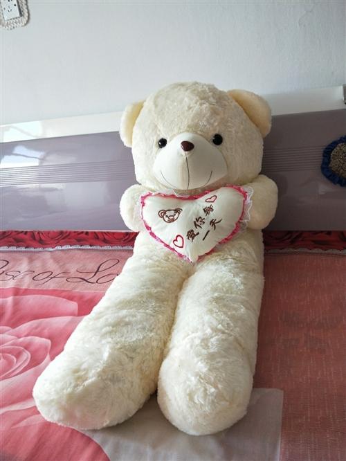 全新毛绒熊玩具2个,1.5米长,50一个两个90