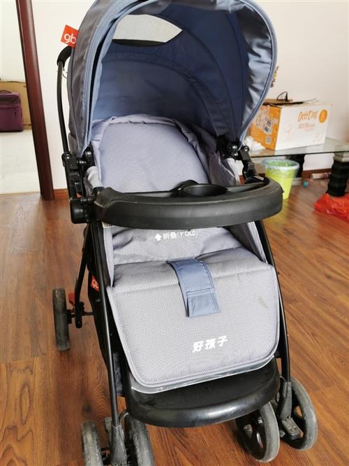 好孩子高檔大空間嬰兒手推車可坐可睡覺很舒服品牌推車安全性能好質量過硬空間大用到三歲沒問題,16年實體...