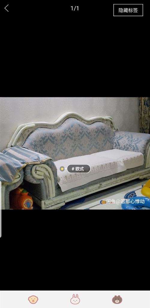 因重新装修,现出售欧式沙发,电视柜,餐桌,餐椅,间厅柜,方几等成套家具,家具刚用两年,九成新,迁安市...