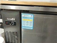低价转让双温冰柜工作台,七成新