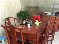 閑置榆木功夫茶桌,今年五月份買的,沒怎么用,便宜出售