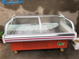 直冷防�F玻璃展示柜,�L一米五,��一米零五,8月份幸福定做的,用了�滋欤��e置低�r�D�,13386499...