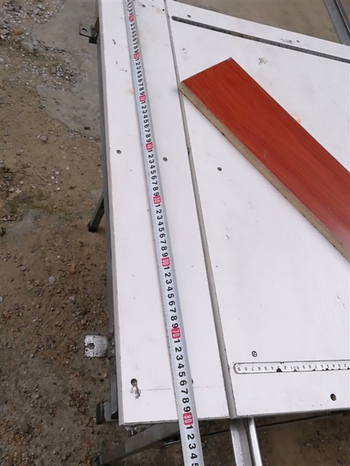 木工裝修推臺鋸可以折疊,折疊后80*80。導軌1.5 需要的誠意
