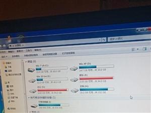 台式机一套,主机?显示器+键盘鼠标,低音炮一套,预装xp win7,win10三个系统,显示器自带扬...