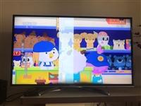 2016年购买康佳电视,中间有道白线,不影响观看,修修差不多得200元,懒得修了!