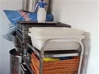 學校食堂用品,有兩層380四盤電烤箱,帶不沾烤盤60?40四十個,二十米五芯十方電纜,空開鍘刀電表,...