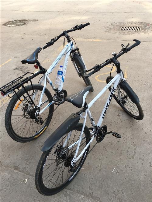 出售情侣自行车两辆,一时兴起买了不骑没地方放,凤凰牌24速,两辆500元便宜卖,卖了比丢了强。