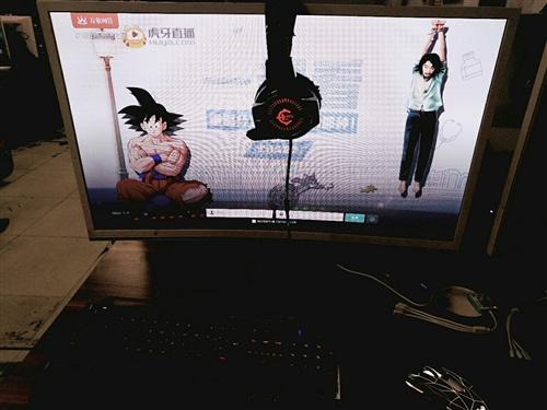 最后幾臺32寸,HYC思贏曲面屏顯示器,, 純白金屬底座1080p高清屏幕,,手機快有手慢無,,,潢...