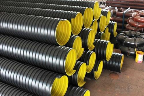 洛陽HDPE大口徑鋼帶增強聚乙烯塑料波紋管廠家直銷