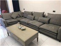 全新硅胶沙发,没有用过,新房空置4个月,0甲醛现低价处理,可拆洗!