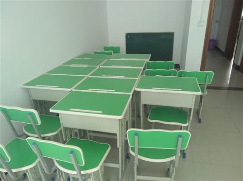 培训班一批桌椅转让,新的没用过,一共10套,有需要的请来电,不包送货。全部一起转让,不零卖。
