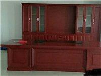 公司搬迁九五新总裁办公家具一套 3.7米办公桌椅3.8米配套书柜