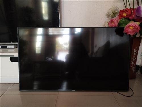 出售海爾55寸液晶電視,用不到一年,只因兩個電視機,想賣一個,成色9成新
