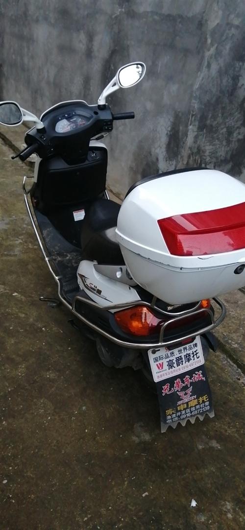 豪爵悦星踏板摩托车出售,放在家里不经常骑 便宜卖了 联系电话15191626301