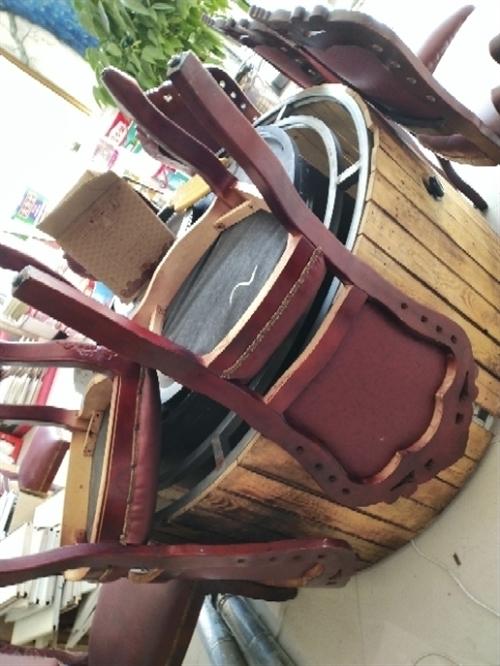 飯店鐵鍋燉桌子椅子一套