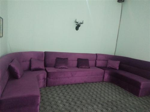 二手沙发,真皮圆床,冷柜,投影幕。