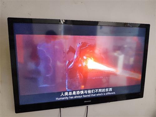46寸海信液晶电视出售,屏幕有两条细线,不影响观看,接受的朋友请联系自提