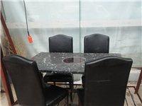 大理石面火锅桌,带电磁炉,四把椅子。微信18053312319