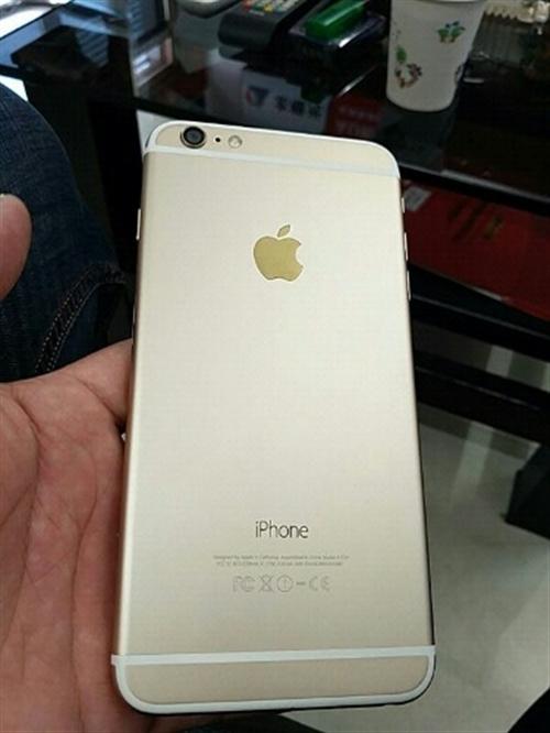 蘋果6p  64G  土豪金  美版  id可解  指紋完好  性能  那些都沒得問題  只是右下角...
