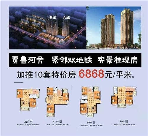 ??????東方領域?? ?? ??  ??87-118㎡珍藏準現房6868元起  ??賈魯河旁...