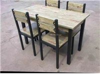 四套快餐店桌椅,一直閑置沒用過,