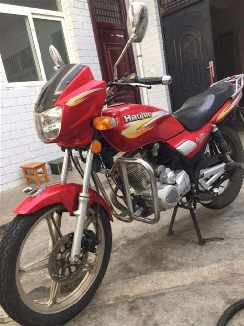 豪爵摩托车出售,手续齐全,可过户,