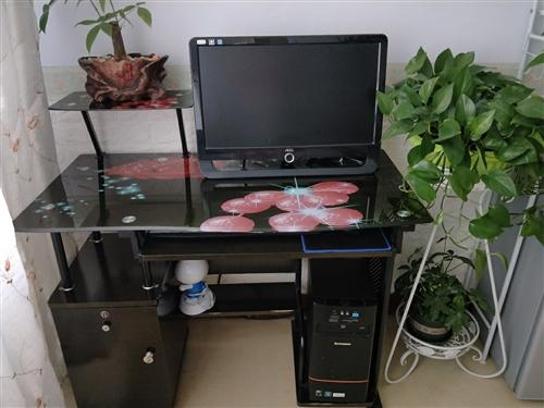 出售臺式電腦一套,連電腦桌轉椅。聯想主機,可連wifi。