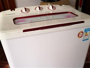 出售二手海信8.2公斤半自�与p缸洗衣�C,看得起的在仁�劭h城自取。