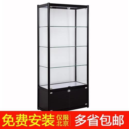 玻璃展示柜60*60*180有钥匙有锁 因为搬家便宜卖之前500全部弄好的