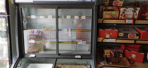 处理两台点菜柜,水果蔬菜货架,价格便宜实惠!1台1.4米,1台2米长,若干水果货架,需要的微信电话联...