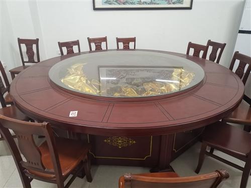 電動桌子,玻璃長大概1. 98米桌面2. 78米,能坐12個人或者更多,去年買的,用不超過15 次。...