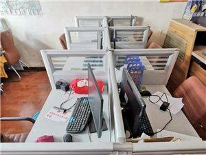 六人位办公桌出售带6把椅子九成新800元