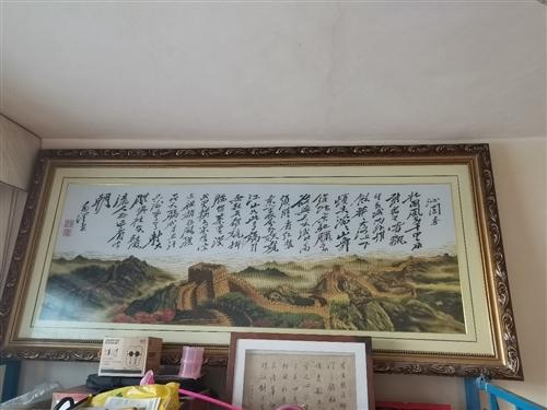 家里太小十字绣没处挂,便宜出售,长2米,宽1.6