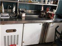 奶茶店設備低價出售(九成新):操作臺、制冰機、全自動封口機、烤肉機、鐵板燒、章魚小丸子機,小烤箱、冷...