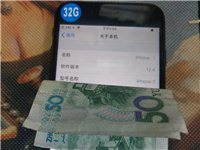 iPhone7 32g  黑色美版三网插卡即用。 指纹拍照,录音扬声器功能ok 年底促销价