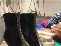 碧盈牌牛皮短靴35碼黑色的 地址貨在黑龍江省 有需要的電話聯系