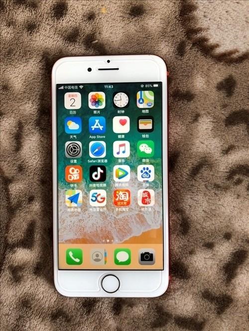 出售蘋果7。128G。紅色。只換過電池。愛思評分95。電池效率99%。新換的電池。