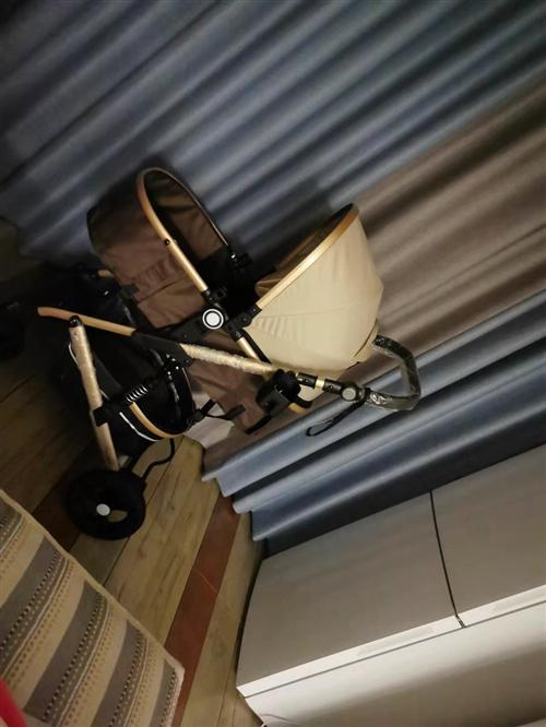 闲置 婴儿推车高景观轻便可坐可躺折叠避震双向宝宝新生儿童推车  18696979880