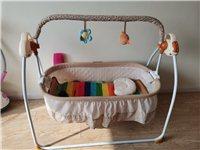 婴儿电动摇椅摇篮摇摇床婴儿床婴儿睡篮哄娃神器智能哄睡安抚摇床,宝宝睡了没几次特别新,电动带音乐,有宝...