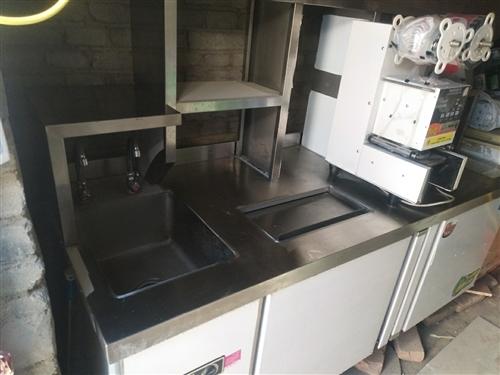 奶茶店专用操作台,冷藏冷冻均可!十成新不议价