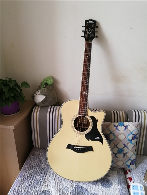 新吉他850買的用了不到一個月,由于本人目前彈鋼琴多一點,打算賣掉吉他,送調音器,夏伯變調夾,還有包...