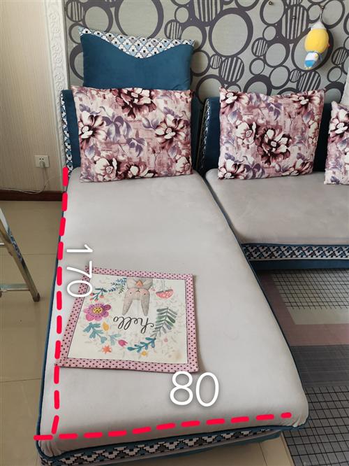 布艺沙发,带贵妃榻,现因装修,低价转让,880元城区自提。