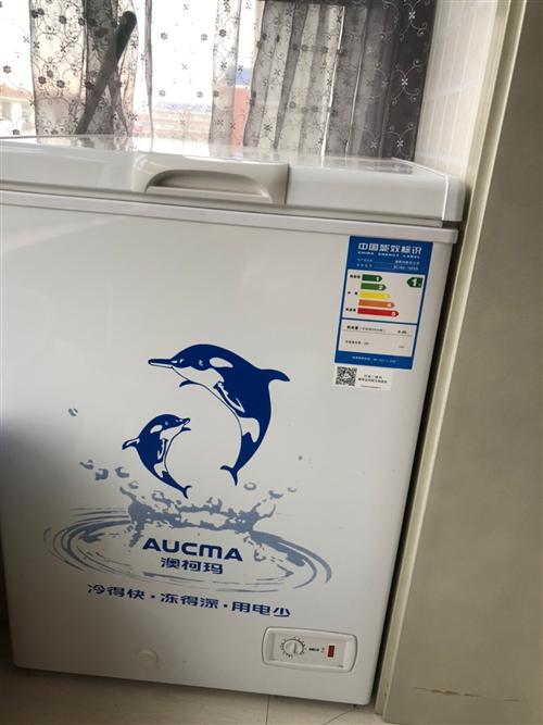 澳柯玛冰柜,九成新,内容积108升,家用,自取