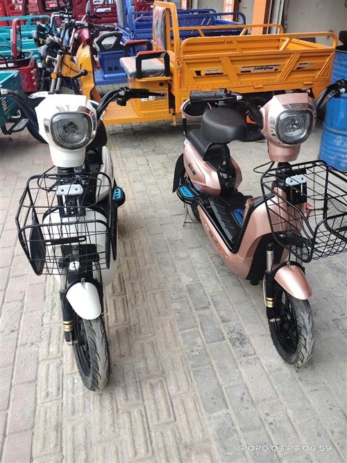 兩臺小電動自行車,配48/20電池2080,配48/12電池1680。電池保修一年,電機保修五年