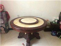 大理石旋转餐桌带七把椅子 沙发 茶几