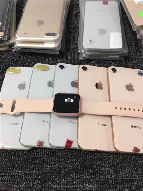 苹果Xsmax 亮黑色全网通256G,4600元,苹果8金色黑色,未激活全网通64G,2200元,苹...