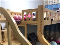 9.5新子母床,长2米,下层宽1.5,上层宽1.3,有一个抽屉没有底板了,18年4500元南方家居买...