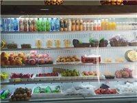 水果店里面的風幕柜和貨架九成新,有需要微我