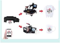出一套工作室专用设备 爱普生6色打印机(四个连供,两套**未拆封热转印墨水,一套打印照片墨水)照片...