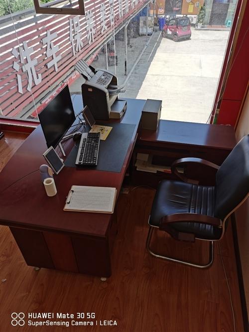 辦公室老板桌,沙發九成新